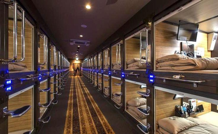 Capsule Hotel Anshin Oyado Shinjuku. Japon : Les hôtels capsules les plus… (avec images) | Hôtel design. Hotel capsule. Hôtels de luxe