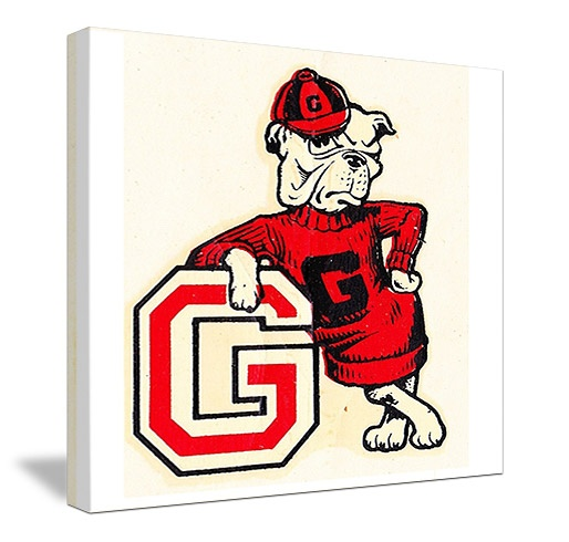Georgia football art! Vintage Georgia Bulldog canvas art by 47 STRAIGHT™. The best Georgia football art is at http://www.shop.47straightposters.com/