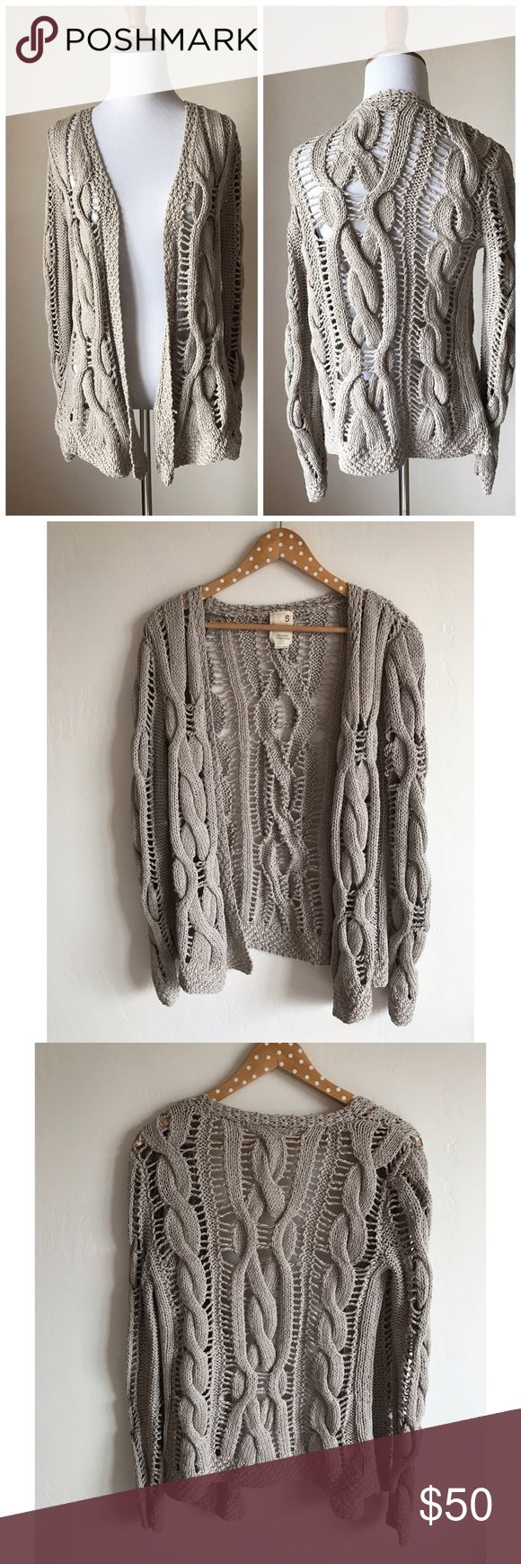 NWOT Anthropologie Open Weave Cardigan Open weave design • Label is Far Away From Close - sold at Anthropologie Anthropologie Sweaters
