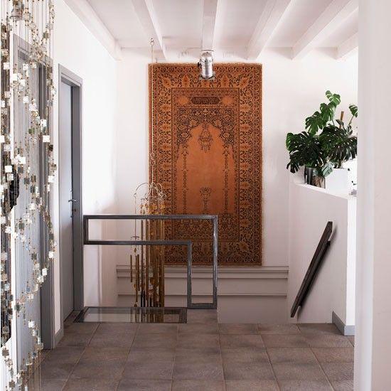 Eclectic modern hallway