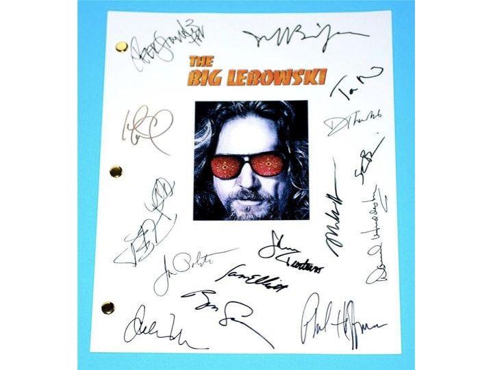 The Big Lebowski Movie Script Autographed: Jeff Bridges, John Goodman, Steve Buscemi, John Turturro, Jon Polito, Philip Seymour Hoffman