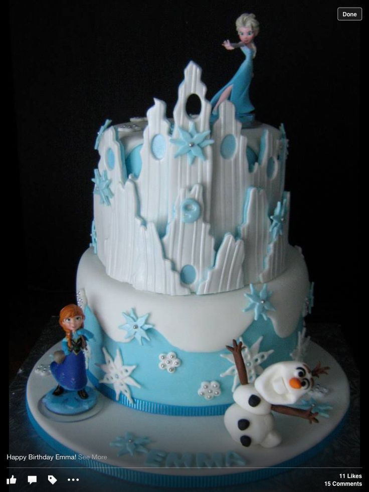 """Frozen"" Birthday Cake, way over the top"