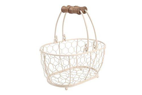 T&G Woodware Provence Oval Basket, Cream, Small: Amazon.co.uk: Kitchen & Home