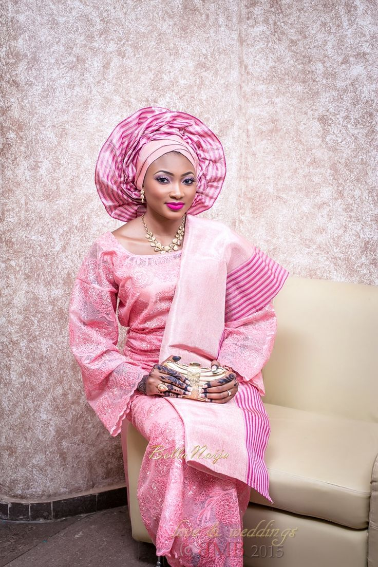 BellaNaija Bride, Amina in Pink Iro and Buba | Amina & Nasir's Muslim Traditional Wedding | Make up by Mimi's Makeover | Photography by BMB Photography
