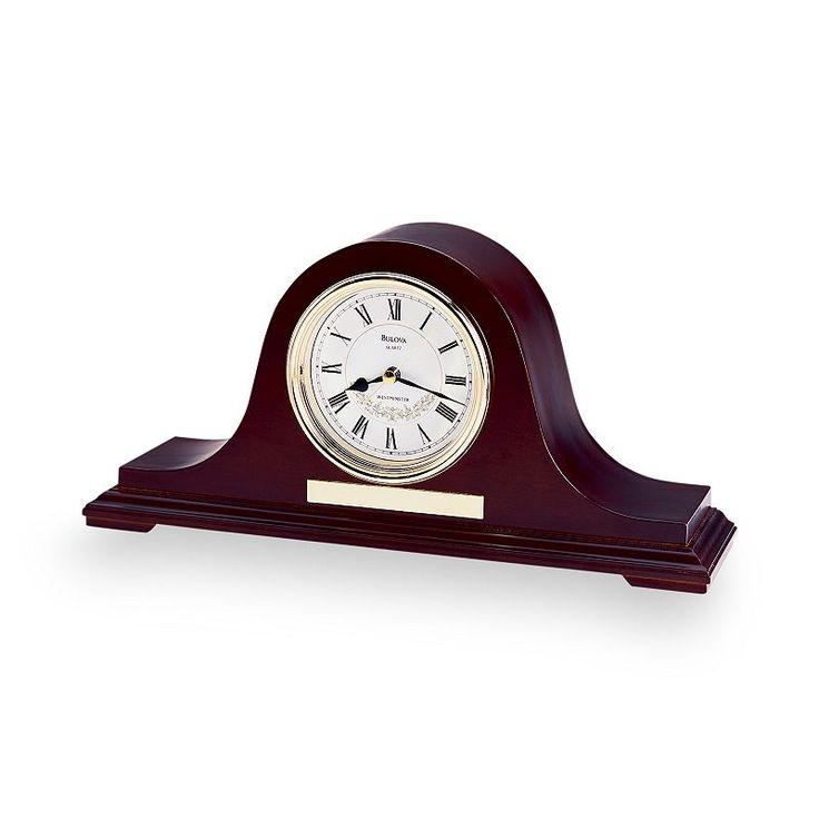 Bulova Annette II Wood Musical Mantel Clock - B1929, Brown