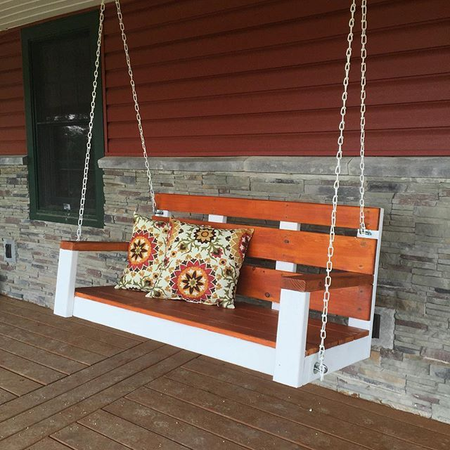 455 best outdoor furniture tutorials images on pinterest for Easy porch swing