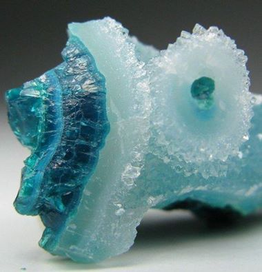 Quartz over Chrysocolla