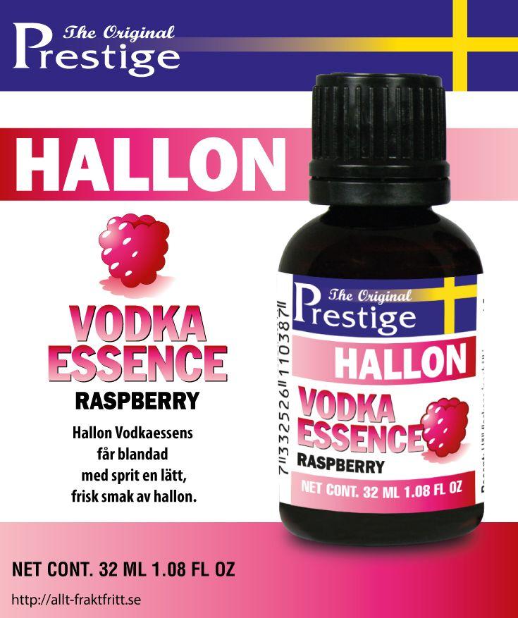 Hallon Vodkaessens får blandad med sprit en lätt, frisk smak av hallon.