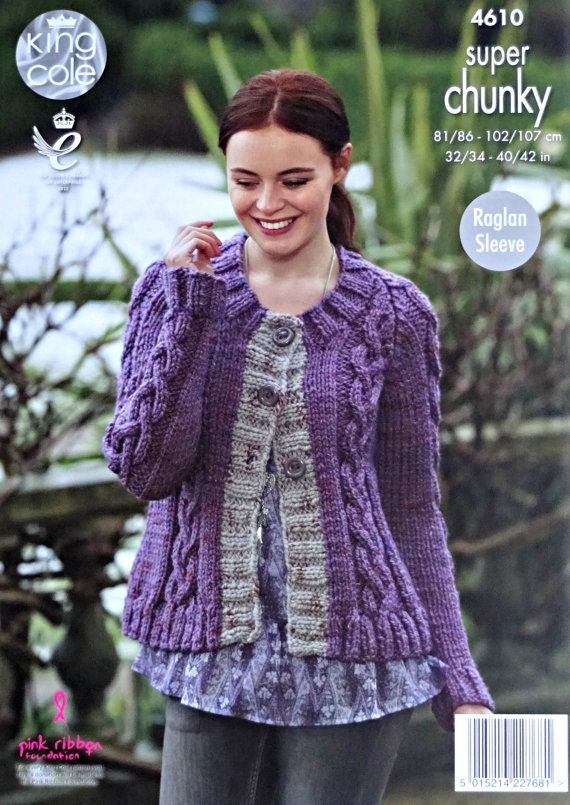 Womens Knitting Pattern K4610 Ladies Long Sleeve Round ...