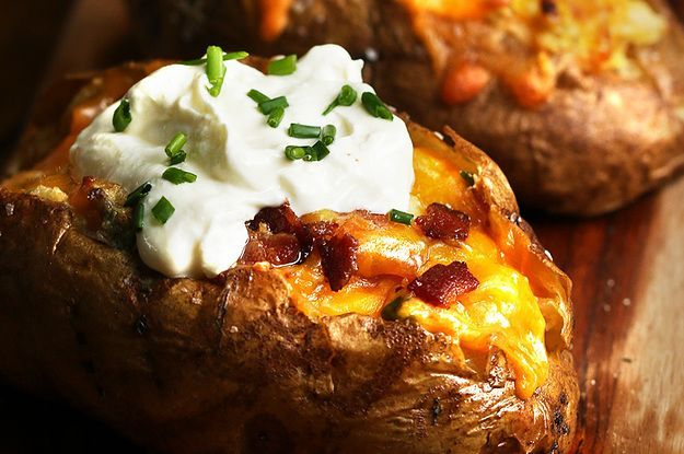 These Loaded Baked Potatoes Four Ways Will Put Your Regular Old Baked Tater To Shame 'One is a breakfast.