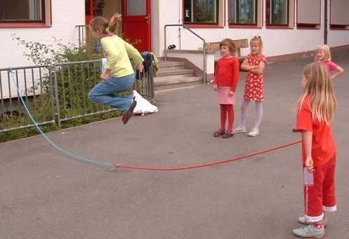 Every recess the jump rope competition would begin!!