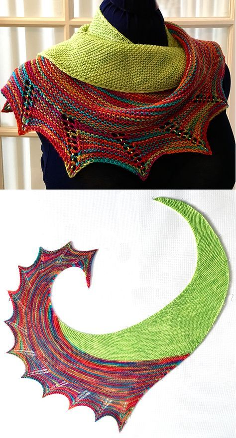 Free Knitting Pattern for Smash Shawl – Asymmetric…