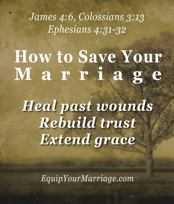 God is in the business of renewal and restoration. Through patiently healing wounds, rebuilding trust, and extending grace, your marriage can be reborn.
