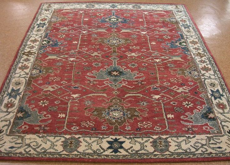 8' x 10' Pottery Barn CHANNING Persian Style New Rust Hand ...