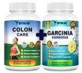 Pure Garcinia Cambogia Extract & Colon Care Combo! Best Weight Loss Suppleme