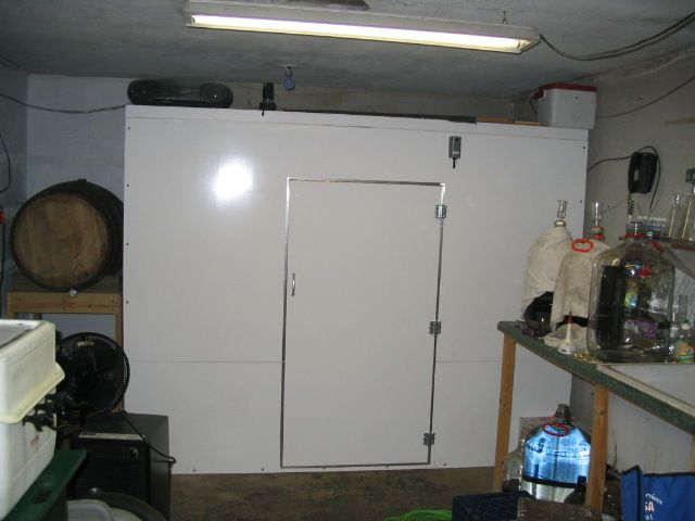 Walkin cooler state of franklin homebrewers brew and for Build your own walk in beer cooler