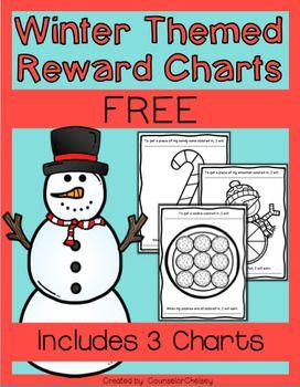 Positive Reinforcement/Reward Charts: Winter Themed- Includes 3 reward charts