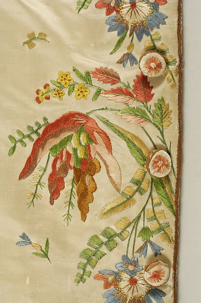 Suit (image 6 - waistcoat detail)   French   1774-92   silk   Metropolitan Museum of Art   Accession Number: C.I.61.13.2a–c