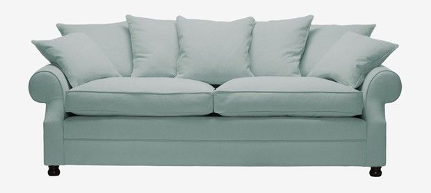 Limerick large sofa with fixed covers in Poise french blue