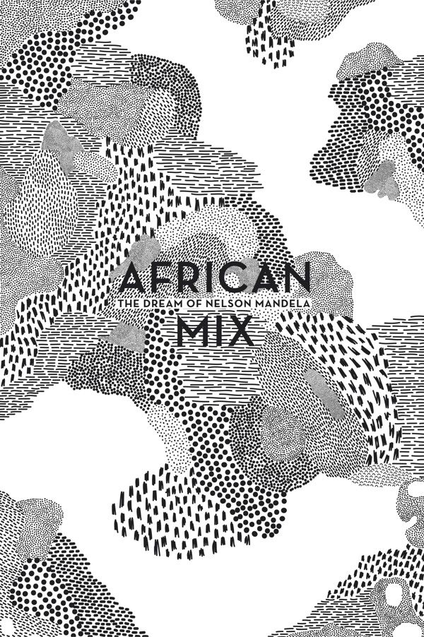 Elise Hannebicque, African mix, 2014 -- black and white pattern mixing, hand…
