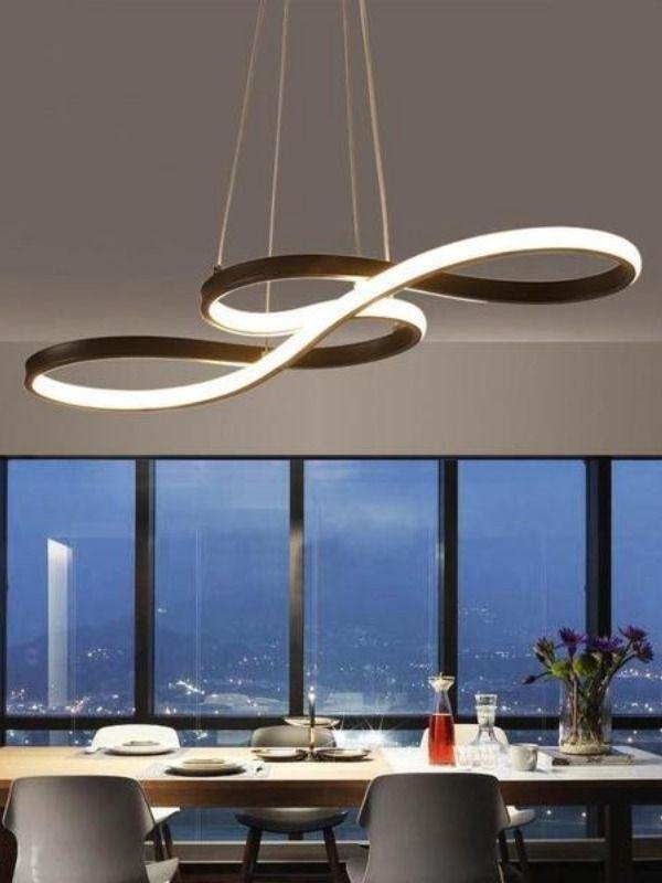 The Infinity Chandelier In 2020 Modern Luxury Lighting Modern Ceiling Light Dining Room Lighting