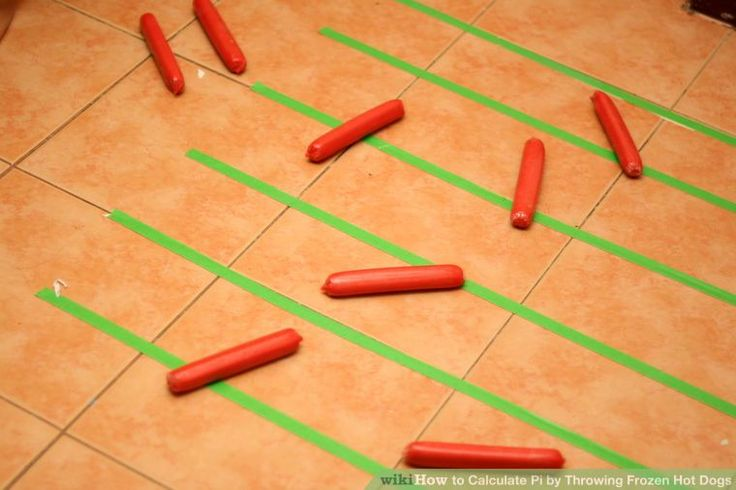Image titled Calculate Pi by Throwing Frozen Hot Dogs Step 7