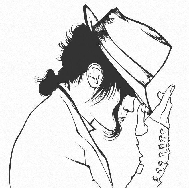 Dibujos para pintar de Michael Jackson | Colorear imágenes