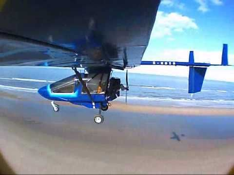 Springbeach - flying a CFM Shadow microlight at low level on the Norfolk coast - YouTube