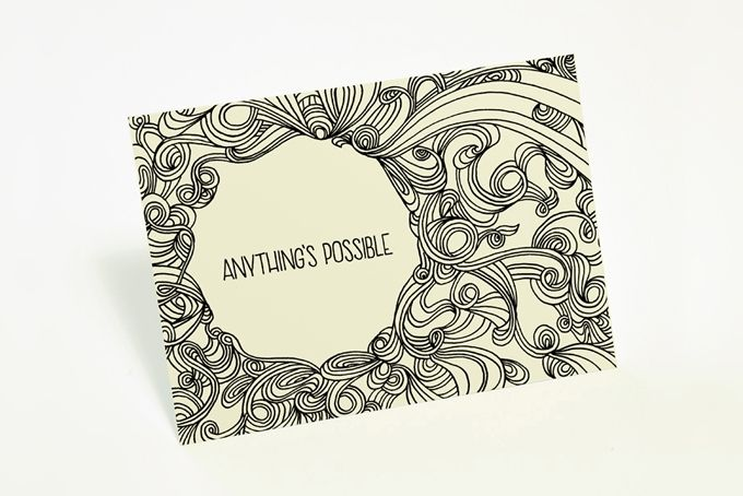 """Anything's possible"" card by Tatjana Buisson Design/ Illustration"