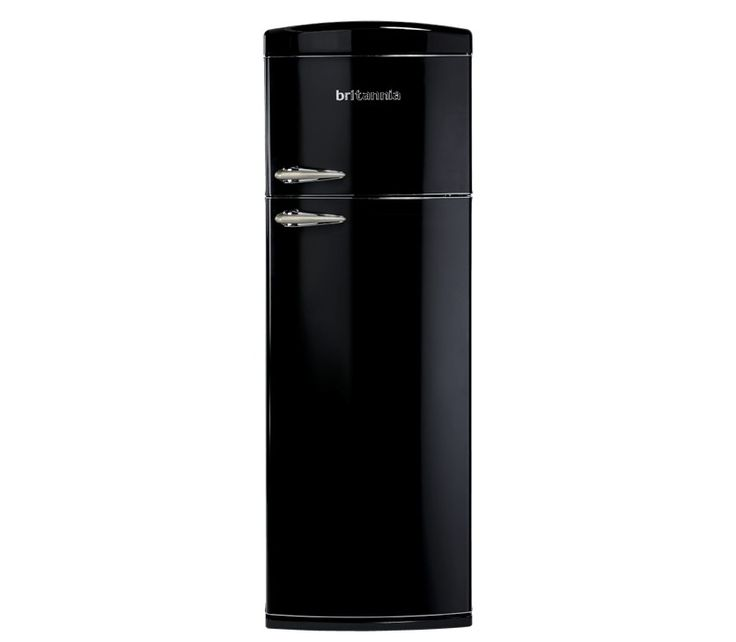 Britannia Breeze Retro Black Top Mount Fridge Freezer