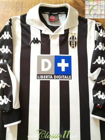 39be41f57b Official Kappa Juventus home long sleeve football shirt from the 1999/00  season.