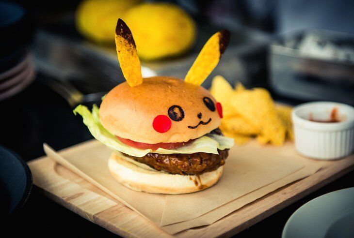 Lunchtime!  We're going to grab a burger. To bad we can't get one of these cute Pikachu burgers around here. They're only for sale in a Pokemon themed restaurant in Japan. Also you'd have to go back in time because the restaurant was only there during the premiere of Pokemon the Movie XY.  #Pokemon #Pikachu #hamburger #fastfood #tokyo #roppongi #japan #otaku #kawaii #oishii #かわいい #美味しい #pokemongo #geek #nerd #food #foodie #foodporn #foodstagram #foodart #foodblogger #foods #foodism #lunch