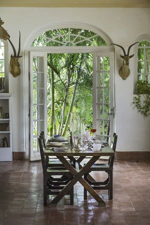 interior of Ernest Hemingway's house, Havana