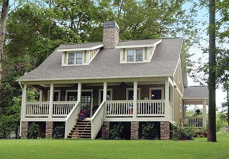 plan 59910nd: raised country cottage   front porches, cottage