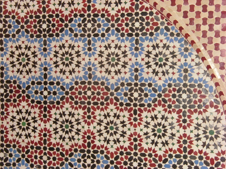 Handcrafted tiles are fabulous in Morocco