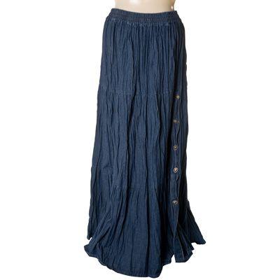 Denim Broomstick Skirt 77