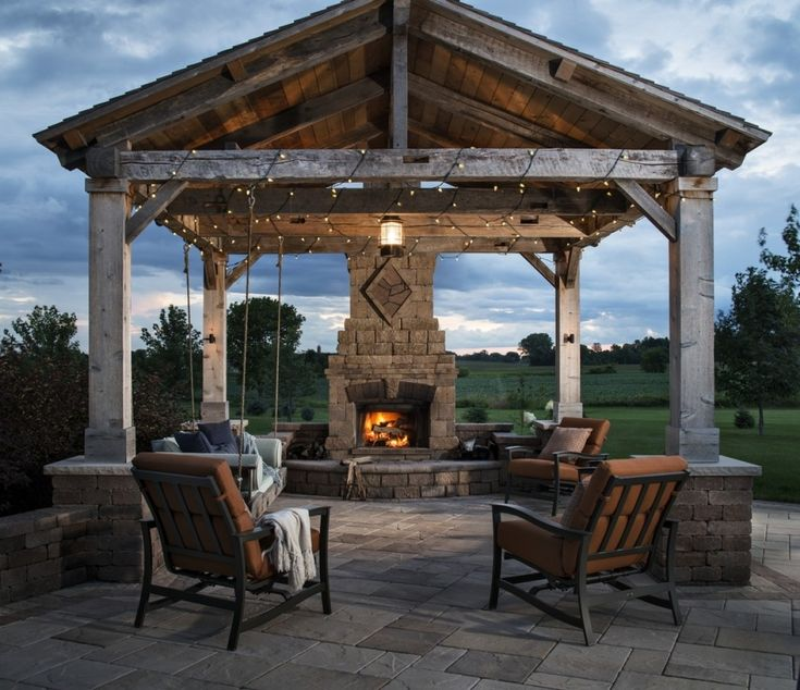 Best 25 patio gazebo ideas on pinterest gazebo roof for Outdoor gazebo plans with fireplace