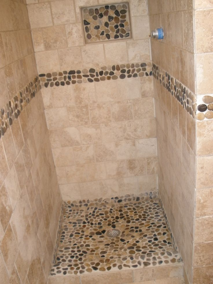 shower stall river rock home ideas rooms bath photos bathroom