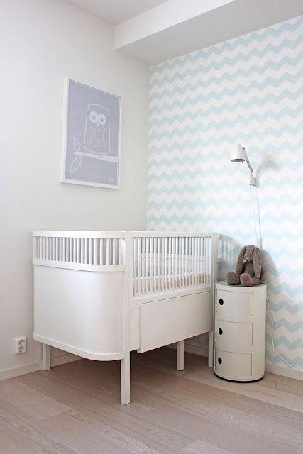 such pretty pastels in a bright, gender neutral nursery | Christine Sveen