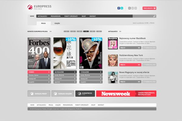 EuroPress by Redkroft , via Behance