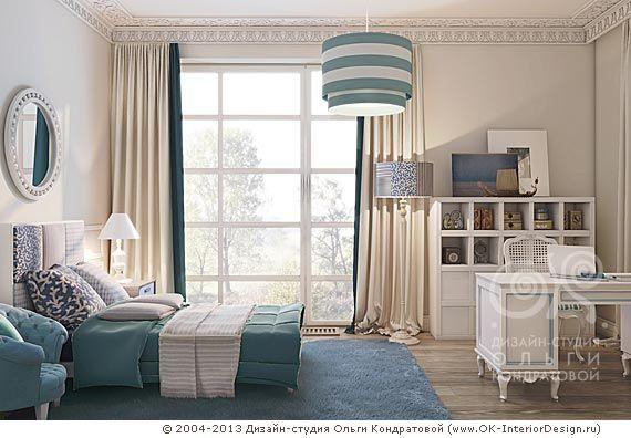 Неоклассика в интерьере спальни - http://www.ok-interiordesign.ru/ph18_bedroom_interior_design.php