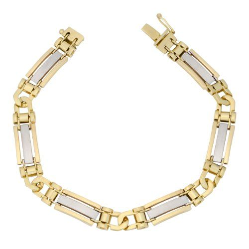 This trendy bracelet is the essence of simplicity and perfectly elegant for all occasions. Crafted from white and yellow gold this lovely bracelet disseminate and glitters feminine charm.Gold History...