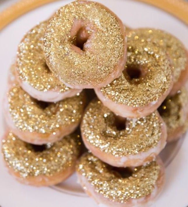 DIY Glitter Donuts are as pretty as they are yummy.