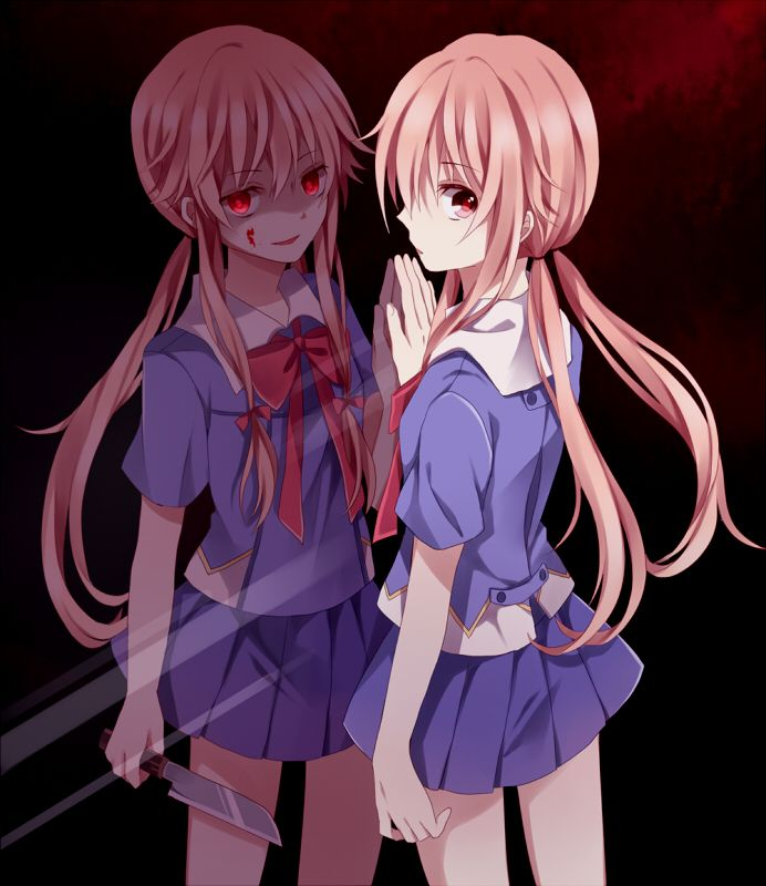 Remember, there are two sides to every person. Yuno Gasai - Mirai Nikki/Future Diary