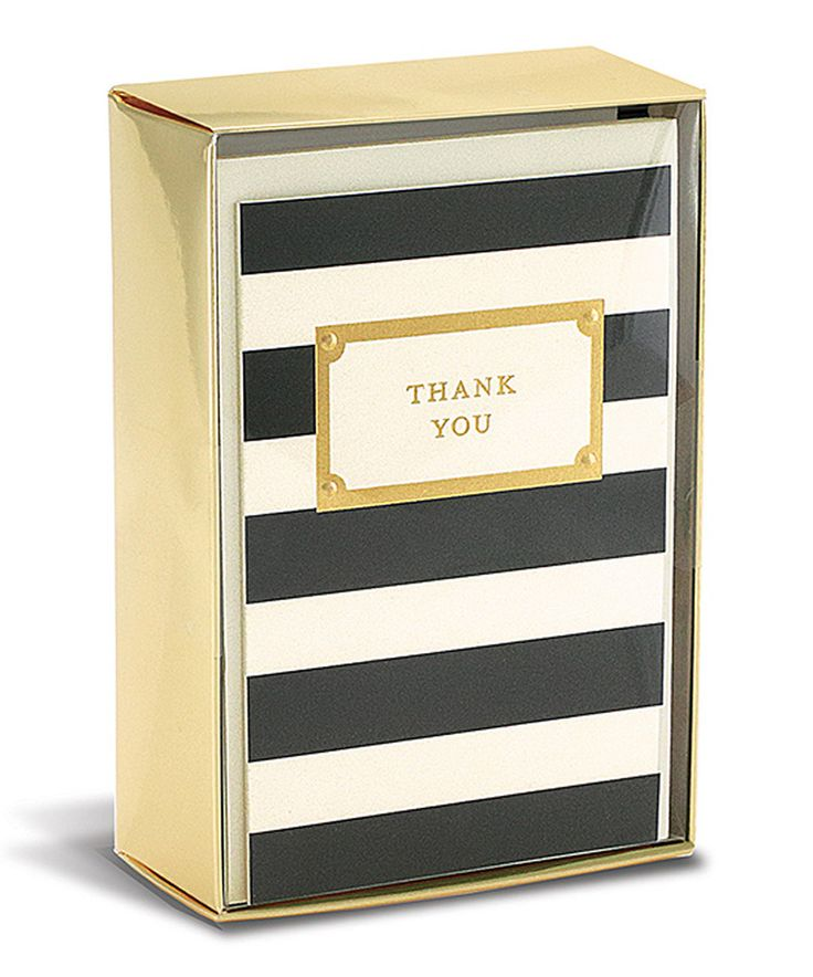Look what I found on #zulily! Elegant Stripe Thank You Card - Set of 10 by Graphique de France #zulilyfinds