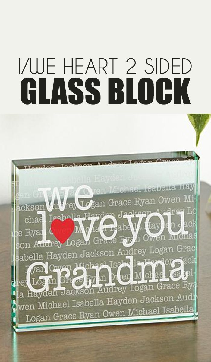your love couldn't be clearer with this sentimental glass block
