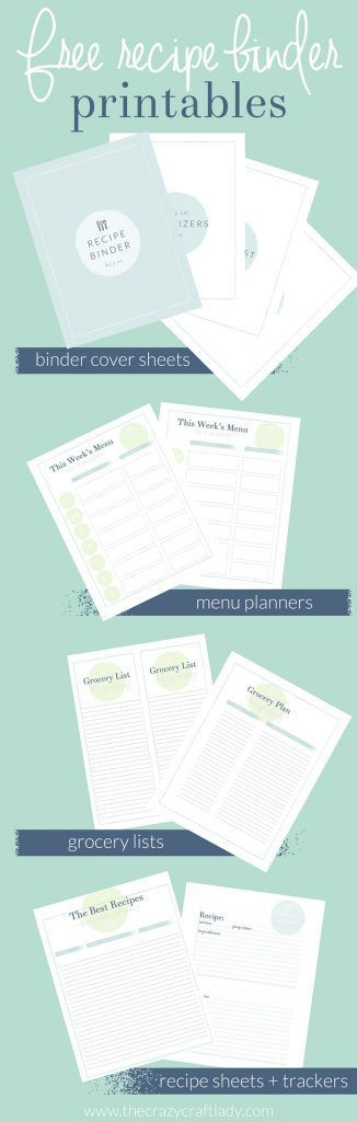 Recipe Binder + Meal Plan Printables