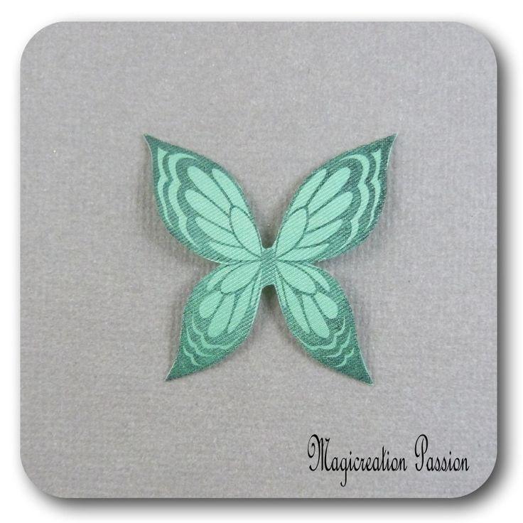 ailes de papillon 3.5 cm soie vert -Ysatis : Décoration d'intérieur par les-tiroirs-de-magicreation-passion