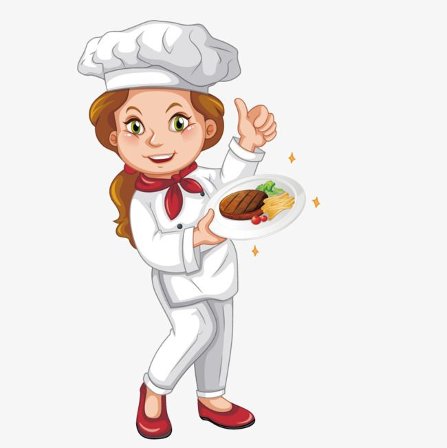 Vector Female Chef Chef Hat Clipart Fast Food Steak Png Transparent Clipart Image And Psd File For Free Download Female Chef Cartoon Character Pictures Clip Art
