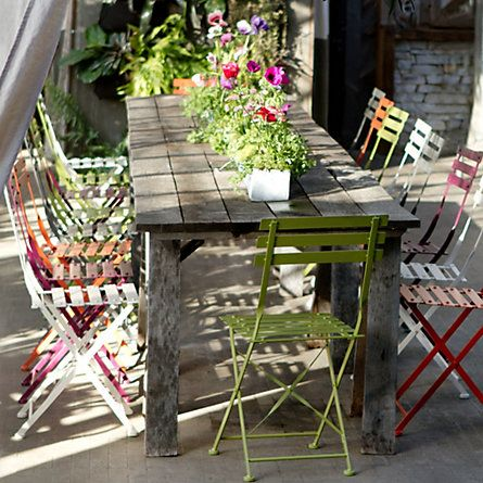 35 best images about folding chair on pinterest french - Exterior furniture paint gallery ...